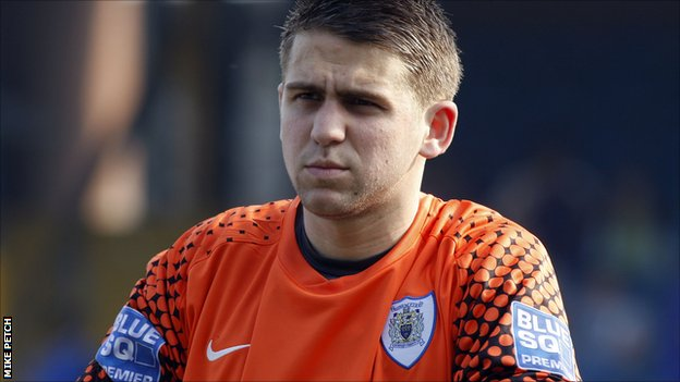 Stockport County goalkeeper Lewis King