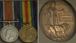 Medals awarded to the Day brothers