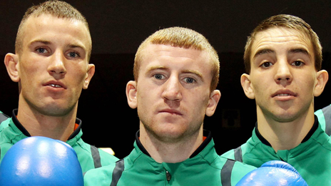 John Joe Nevin, Paddy Barnes and Michael Conlon