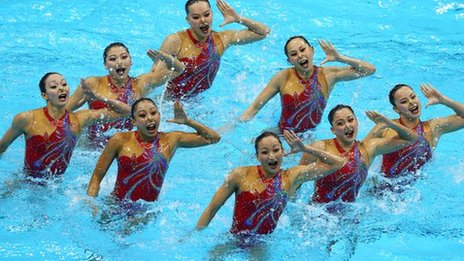 Synchronised swimmers