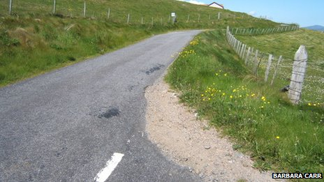 Road in the north of Barra