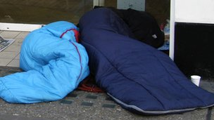 People sleeping rough in London