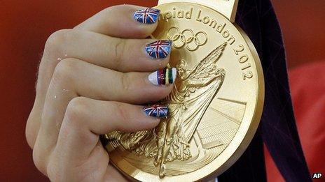 Laura Trott's gold medal