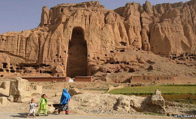 One of the spots formerly filled by a Bamiyan Buddha