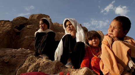 Family in Bamiyan