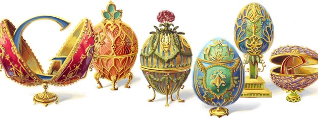 Google Doodle featuring Faberge eggs