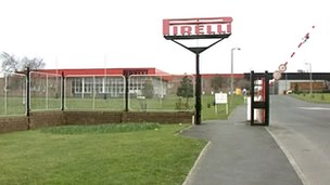 Pirelli factory in Carlisle
