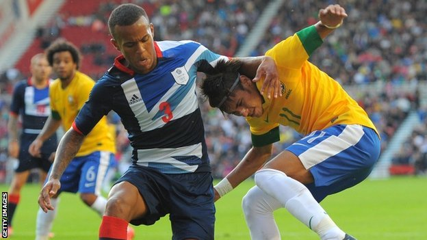 Ryan Bertrand in action for Great Britain