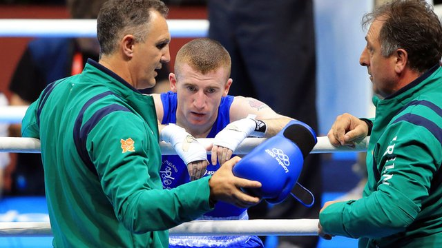 Paddy Barnes after his defeat by Zou Shiming