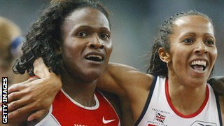 Maria Mutola (left) and Kelly Holmes