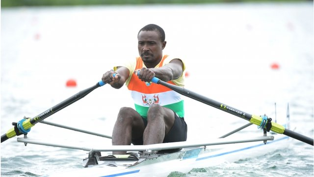 Hamadou Djibo Issaka from Niger has become known for finishing last in his races