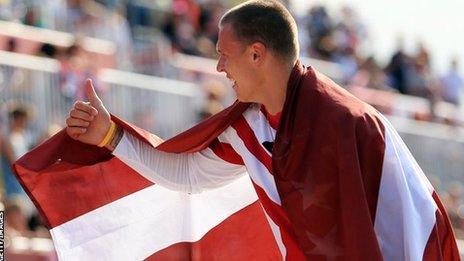 Latvia's Maris Strombergs