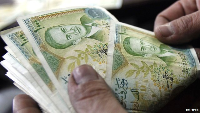 Syrian 1,000 pound banknotes