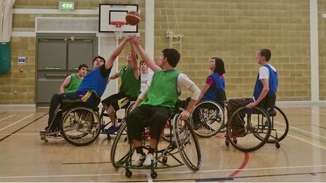 The South West Scorpion wheelchair basketball team