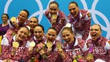 Russia's synchronised swimming team