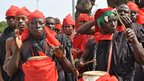 Drummers in Accra, Ghana - 9 August 2012