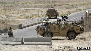 British troops in Afghanistan
