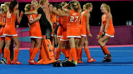 Netherlands players celebrate