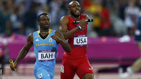 Bahamas beat USA to take 4x400m gold
