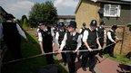 Police create a cordon