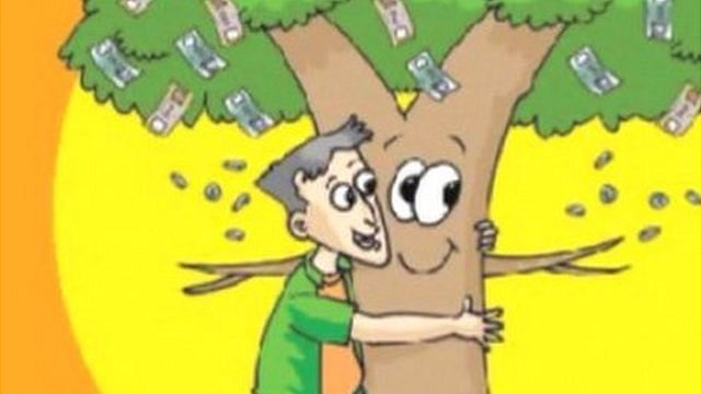 'Raju and The Money Tree' comic book cover detail