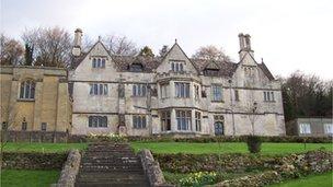 St Peter's Grange, home of the Prinknash Abbey monks