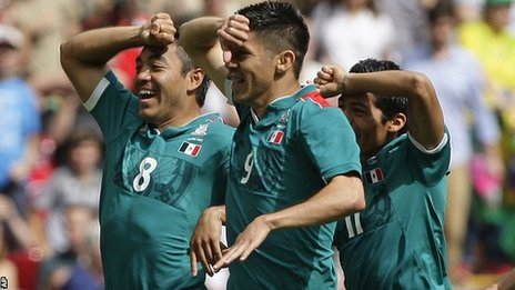 Mexico players celebrate