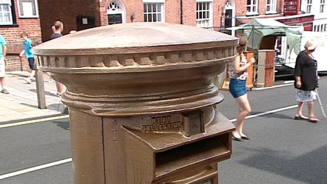 Lymington's gold post box