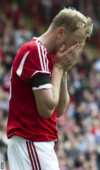 Hughes was in fine form for the Dons but could not believe they could not score