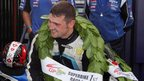 Michael Dunlop rode at the meeting despite two slipped discs in his back