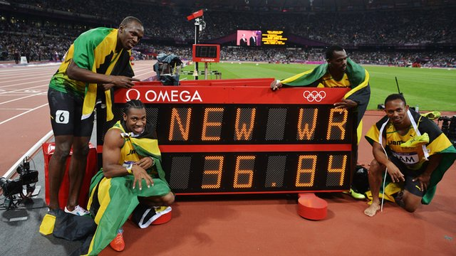 Jamaica smash record to win relay gold