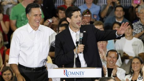 Paul Ryan with Mitt Romney is Ashland, Virginia
