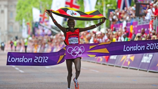Olympics marathon: Stephen Kiprotich wins gold for Uganda