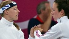 GB modern pentathletes Mhairi Spence and Samantha Murray