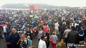 Bikers on Plymouth Hoe