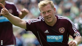 Andrew Driver opened the scoring for Hearts