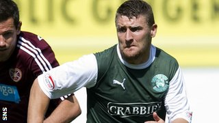 Gary Deegan made his debut for Hibs