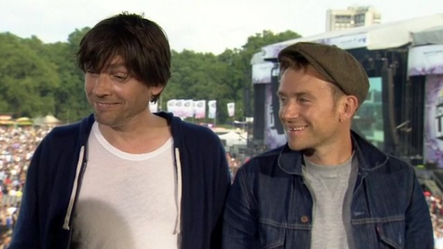 Alex James and Damon Albarn