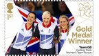 Dani King, Joanna Rowsell and Laura Trott won gold for Great Britain in the women's team pursuit