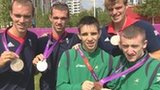Medal winners Peter Chambers, Richard Chambers, Michael Conlan, Alan Campbell and Paddy Barnes