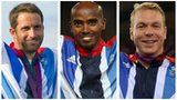 Ben Ainslie, Mo Farah and Sir Chris Hoy
