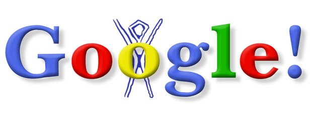 Burning man Google doodle