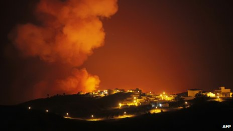 Blaze at night on La Gomera, 12 Aug 12