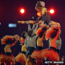 Darcey Bussell and dancers at the London 2012 closing ceremony