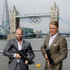 Jason Statham and Dolph Lundgren