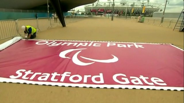 Paralympic sign at Olympic Park