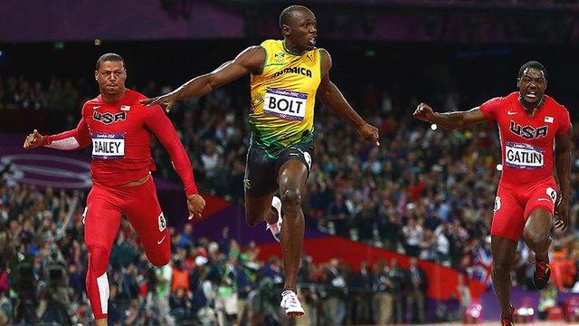 Usain Bolt at London 2012