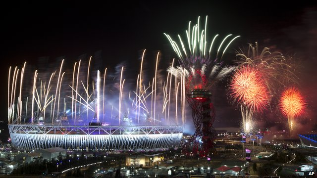 olympic closing ceremony fireworks