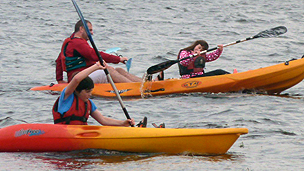 Mark Moore and his family try kayaking