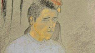 Artist's impression of Damian Rzeszowski